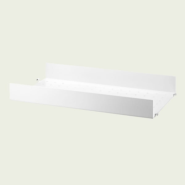 String Metal Shelf High Edge 58x30cm / White