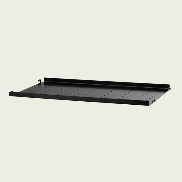 String Metal Shelf Low Edge 58x30cm / Black