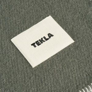 Tekla Pure New Wool Blanket Laurel Green