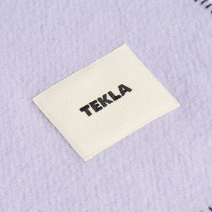 Tekla Pure New Wool Blanket Lavender & Blue