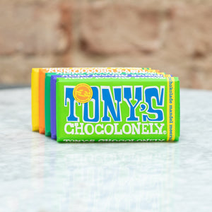 Tony's Chocolonely Tony's Chocolonely Chocolate Bar Dark Milk Chocolate 51% - Dark Almond Sea Salt