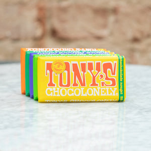 Tony's Chocolonely Tony's Chocolonely Chocolate Bar Milk Chocolate 32% - Almond Honey Nougat