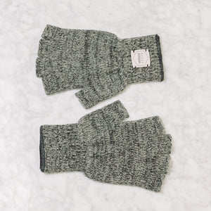 Upstate Stock Fingerless Ragg Wool Glove Large / Charcoal Melange