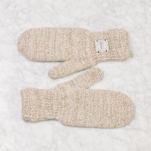 Upstate Stock Ragg Wool Mitten Large / Oatmeal Melange