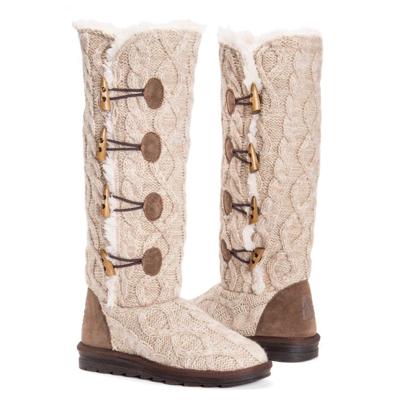Women's Felicity Boots by Muk Luks-Beige-7-Daily Steals