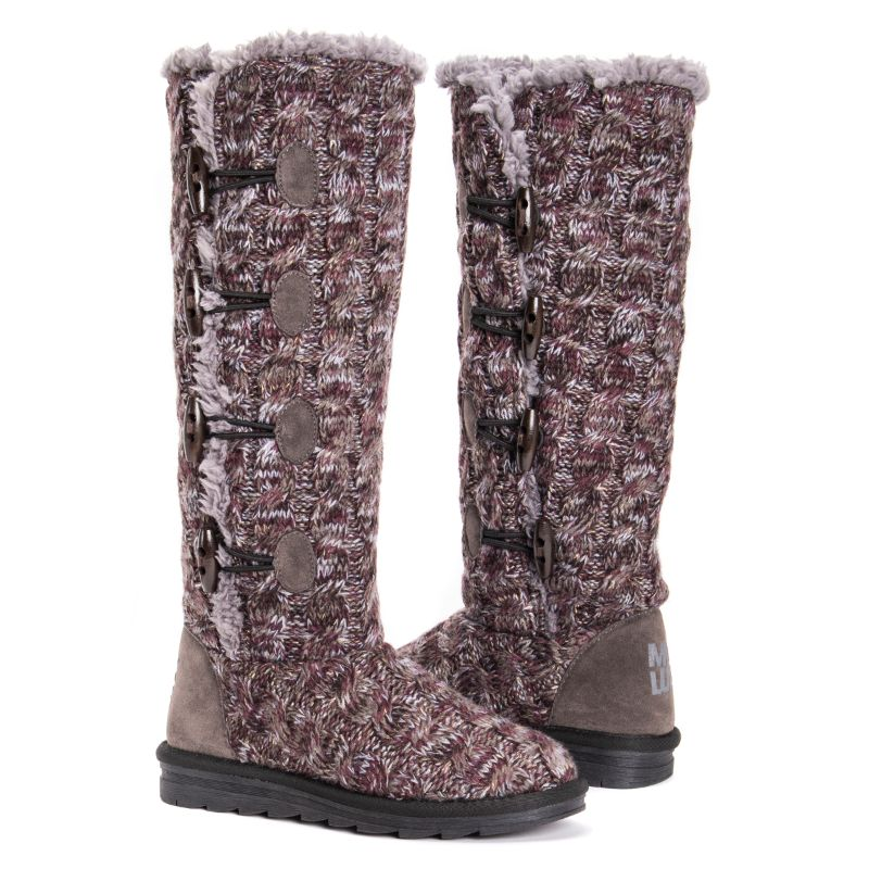 Women's Felicity Boots by Muk Luks-Purple-9-Daily Steals