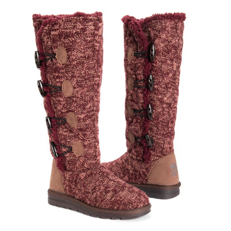 Women's Felicity Boots by Muk Luks-Burgundy-9-Daily Steals