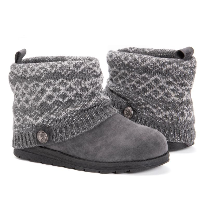 Women's Patti Boots by Muk Luks-Medium Grey-6-Daily Steals