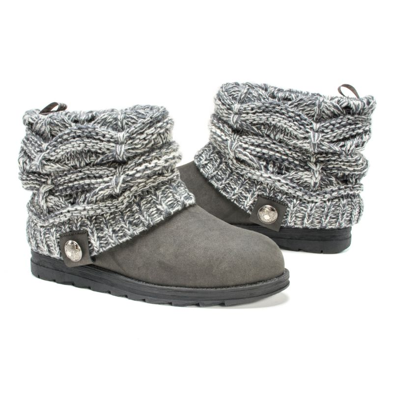 Women's Patti Boots by Muk Luks-Grey-8-Daily Steals