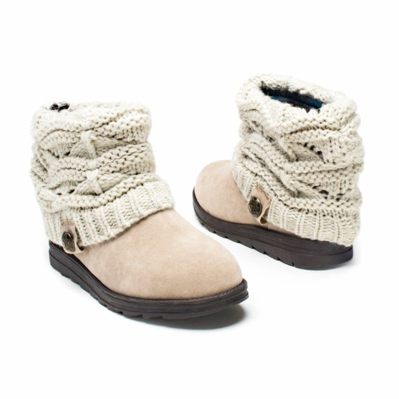 Women's Patti Boots by Muk Luks-Light Beige-9-Daily Steals