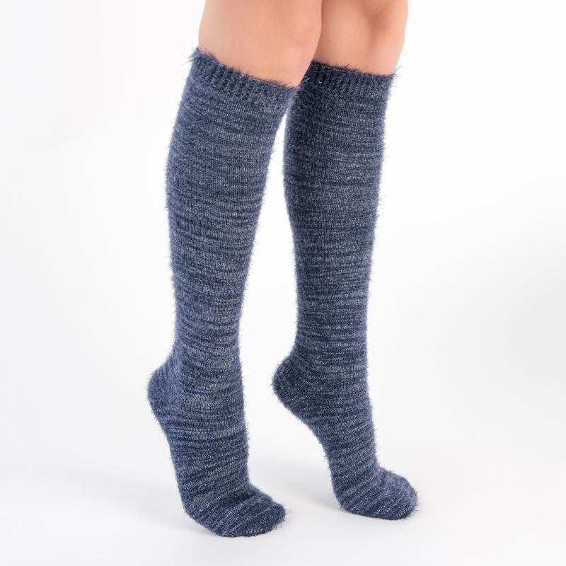 Women's Feather Yarn Knee High Socks by Muk Luks - 3 Pack-Daily Steals