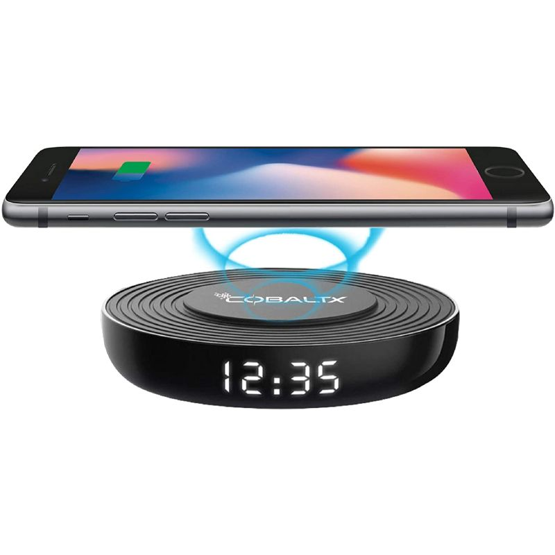 CobaltX Wireless Charging Pad with Digital LED Clock