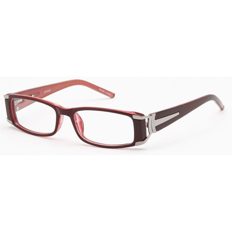 Women's Eyeglasses 52 16 140 Burgundy Plastic