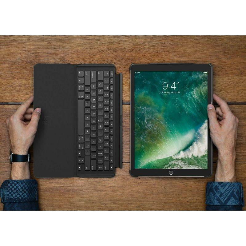 Logitech Slim Combo Keyboard Case with Backlighting for iPad Pro 10.5 & Air 3rd Gen