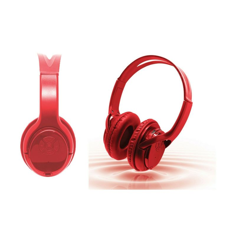Casque d'écoute sans fil Bluetooth zTech Over the Ear-Red-Daily Steals