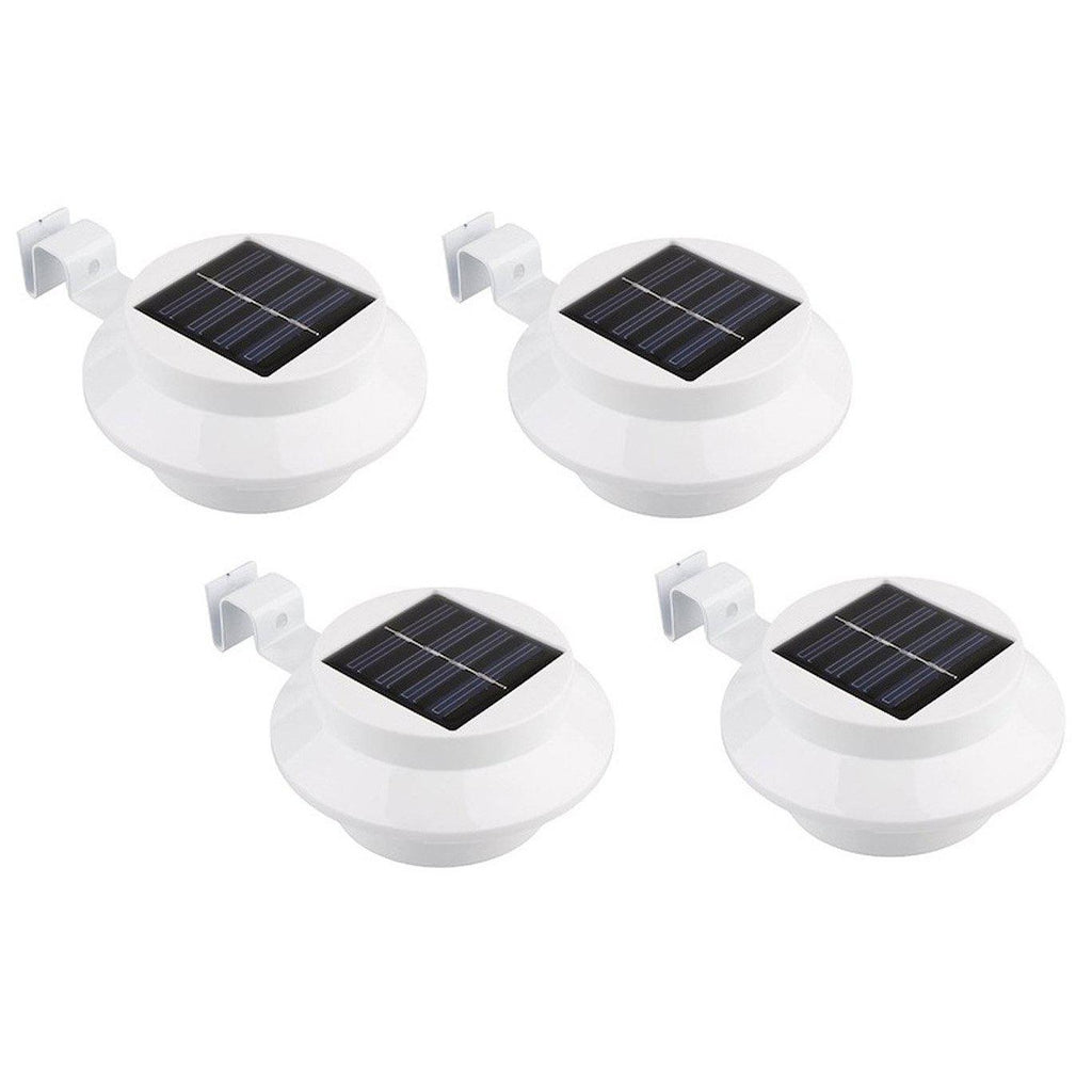 Black or White Solar-Powered LED Outdoor Lights - 4 Pack-White-Daily Steals