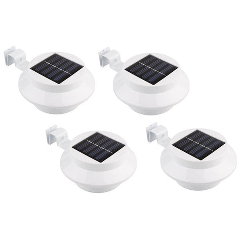 update alt-text with template Daily Steals-Black or White Solar-Powered LED Outdoor Lights - 4 Pack-Outdoors and Tactical-White-