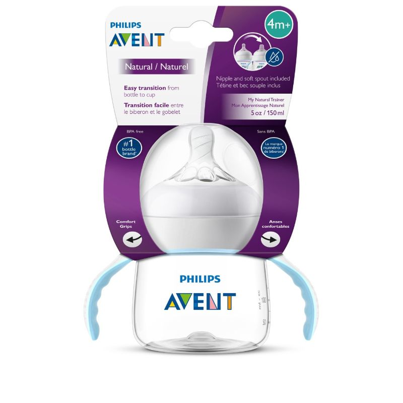 Philips Avent My Natural Trainer Sippy Cup, Clear, 5oz - 6 Pack-Daily Steals