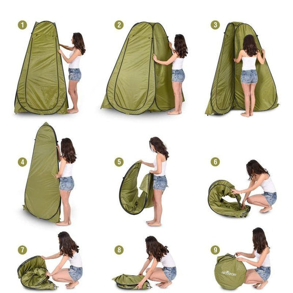 AbcoTech Instant Portable Pop Up Privacy Tent with Carry Bag-Daily Steals