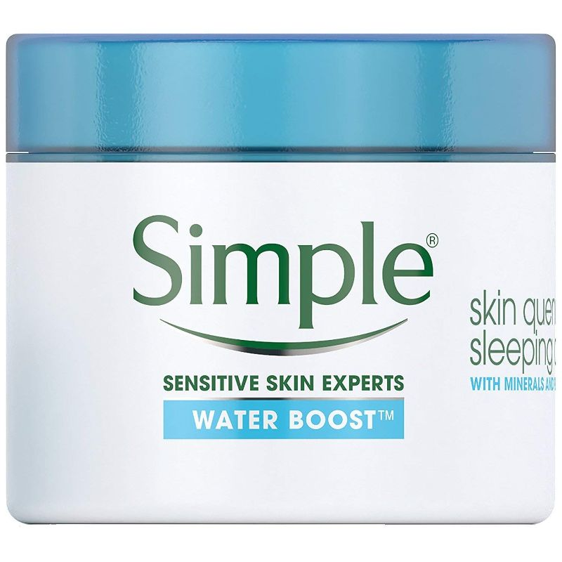 Simple Water Boost Skin Quench Sleeping Cream, 1.7 Fl Oz - 6 Pack