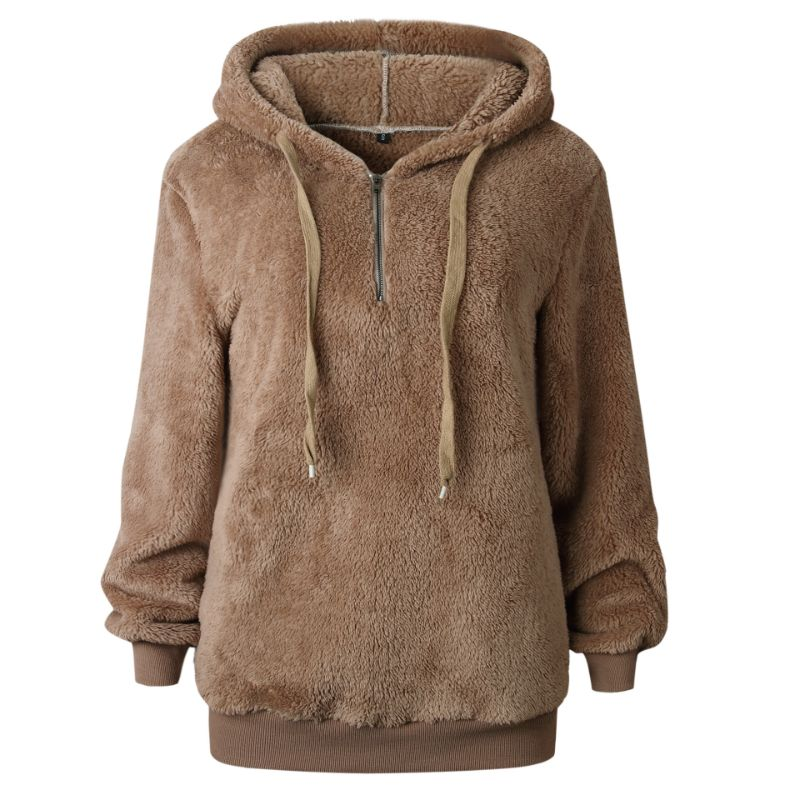 Plush Pullover Hoodie-Khaki-Small-Daily Steals