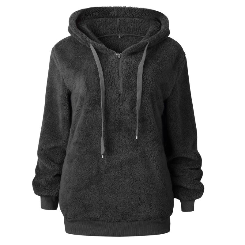 Plush Pullover Hoodie-Dark Grey-Small-Daily Steals