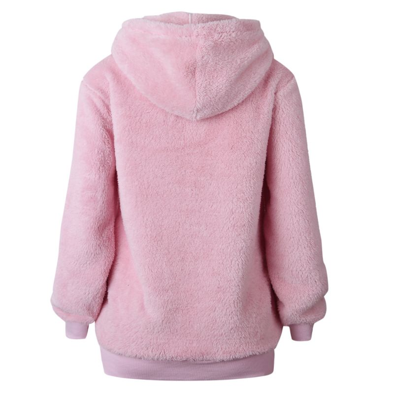 Sweat à capuche en peluche - Vol quotidien