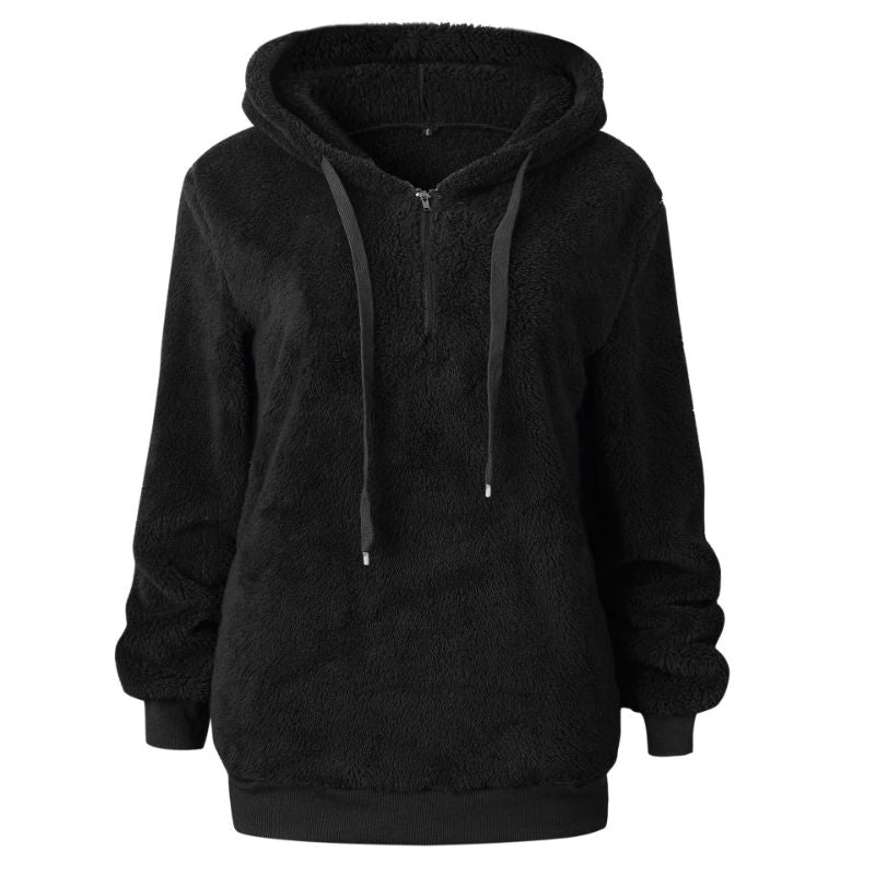 Plush Pullover Hoodie-Black-Small-Daily Steals