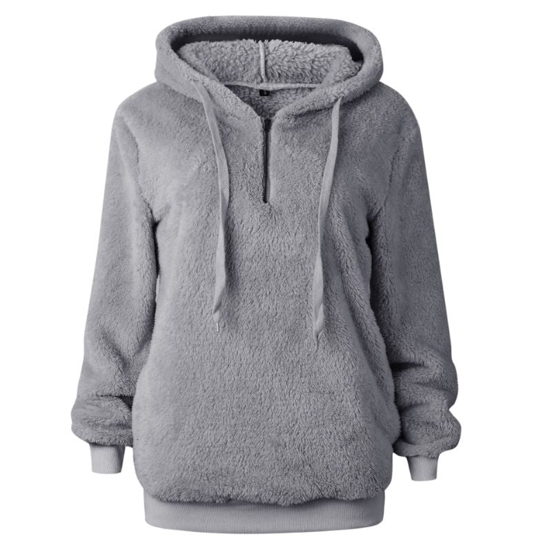 Plush Pullover Hoodie-Light Gray-Small-Daily Steals