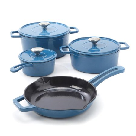 7-piece Enameled Cast Iron Cookware Set by Michael Symon Home-Blue-Daily Steals