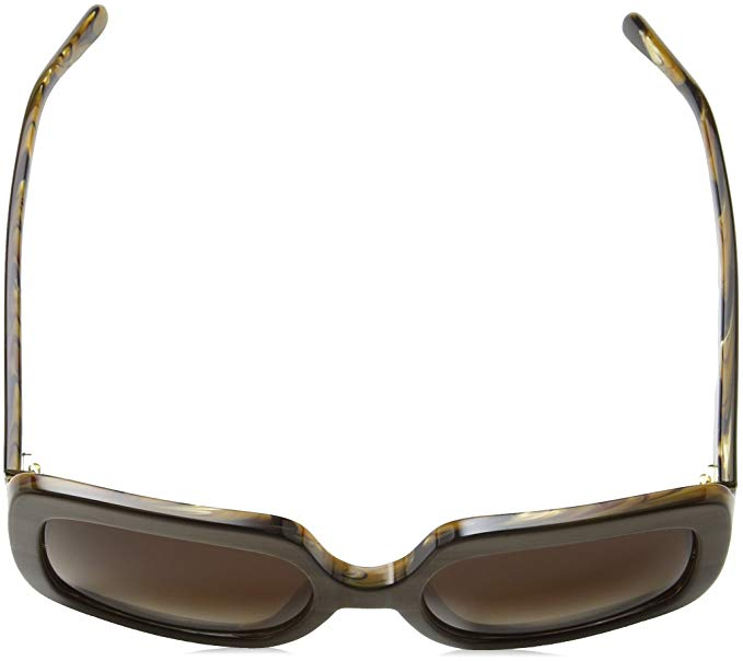 Michael Kors Harbor Mist Brown Smoke Gradient Square Sunglasses-Daily Steals