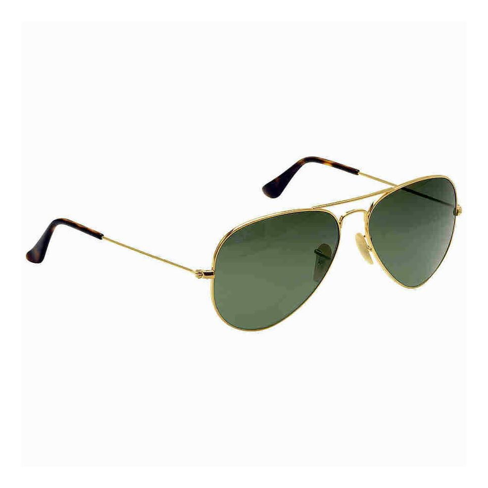 Ray-Ban RB3025 AVIATOR HAVANA COLLECTION 58 Green & Gold Metal-Daily Steals