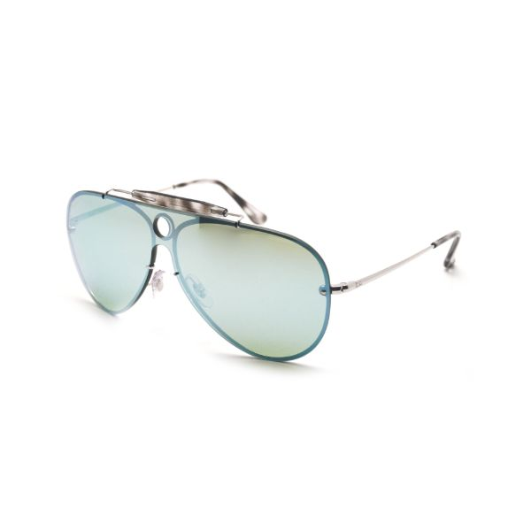 Ray-Ban Sunglasses RB3581N 003/30 Silver, Dark Green Mirror 32mm-Daily Steals