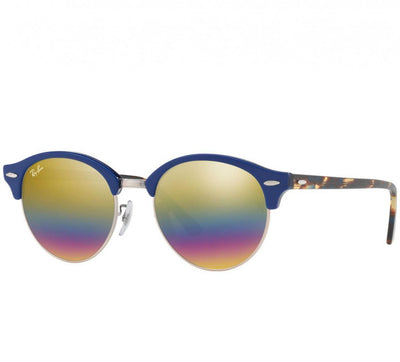 0175ae8e9f5 Daily Steals-Ray-Ban RB4246 1223C4 Clubwood Round Blue w  Grey Mirror  Rainbow
