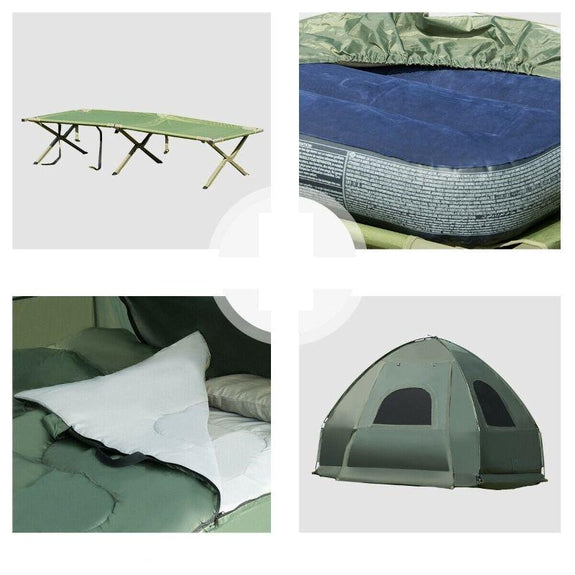 1-Person Compact Portable Pop-Up Tent Air Mattress And Sleeping Bag-Daily Steals