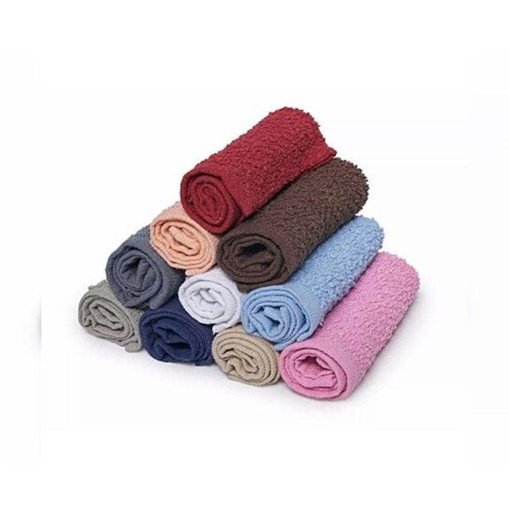 "100% Cotton Absorbent Kitchen Or Face Cloths Towel Set Assorted Colors-11""x11""-6-Pack-"