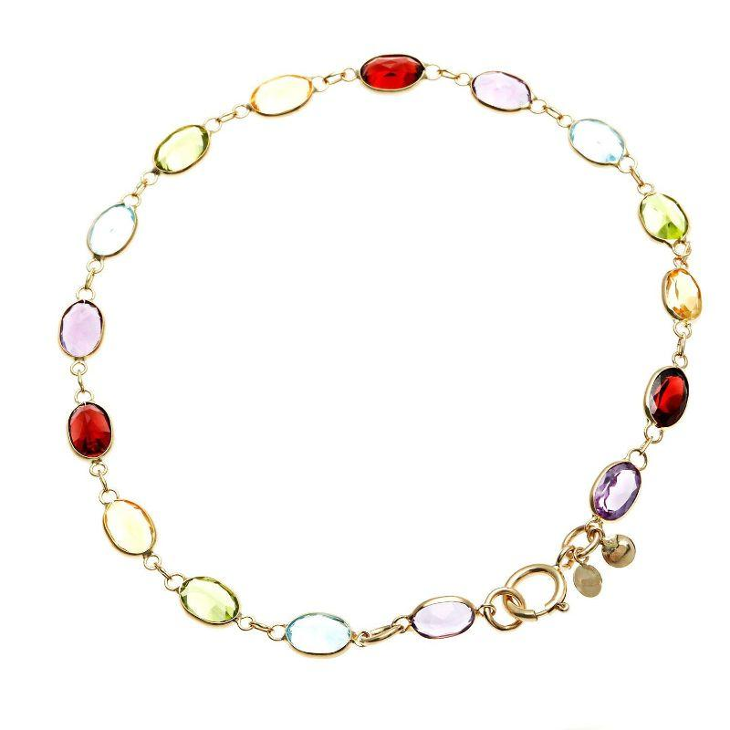 10.00 Ct Marquise Cut Natural Gemstones 7.8 Bracelet in 18k Gold Filled-Daily Steals