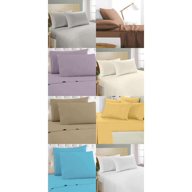 [4-Piece] Luxurious 1,000 Thread Count Egyptian Cotton Sheet Sets-Daily Steals
