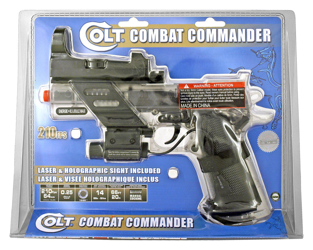 Colt Combat Commander Spring Powered Airsoft Pistol-Daily Steals