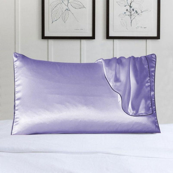 100% Silk Pillow Cover With Trim-Lavender-Daily Steals