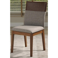 Duke Dining Chair with Synthetic Leather-Grey and Brown-Daily Steals