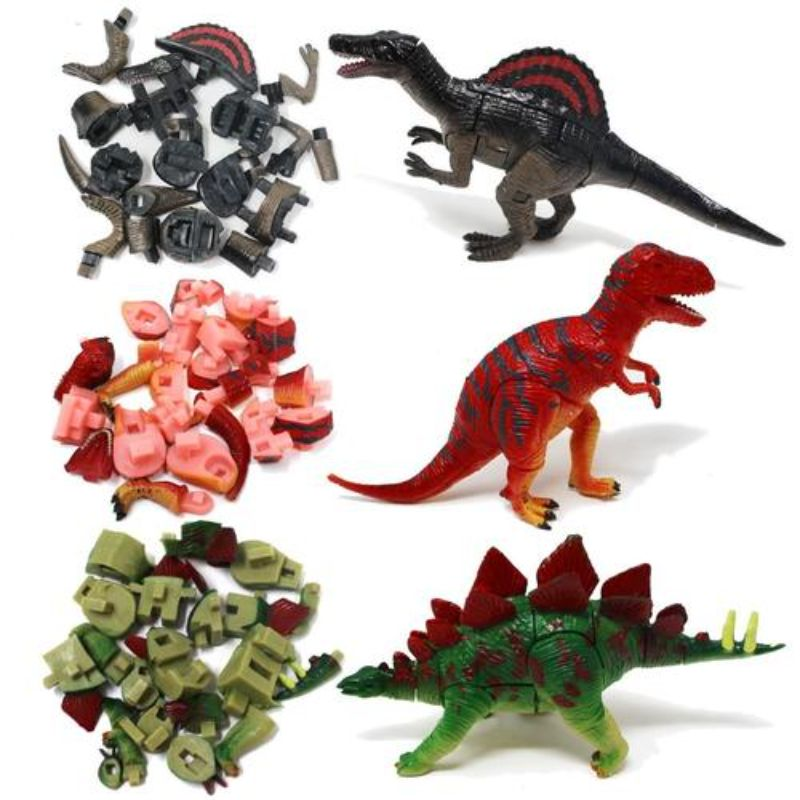 Dinosaur 3D Puzzles Pre-filled Easter Eggs - 6 Pack