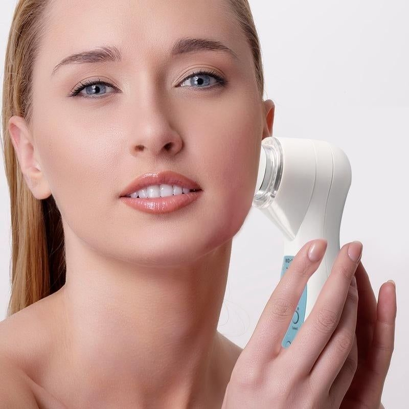 LED Ultrasonic Facial Therapy Device