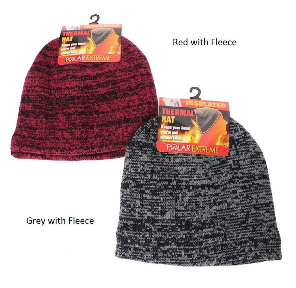Polar Extreme Thermal Insulated Stocking Beanie Cap-Grey with Fleece-Daily Steals
