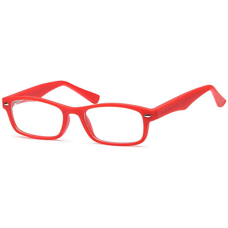 Unisex Eyeglasses 45 15 130 Red Plastic