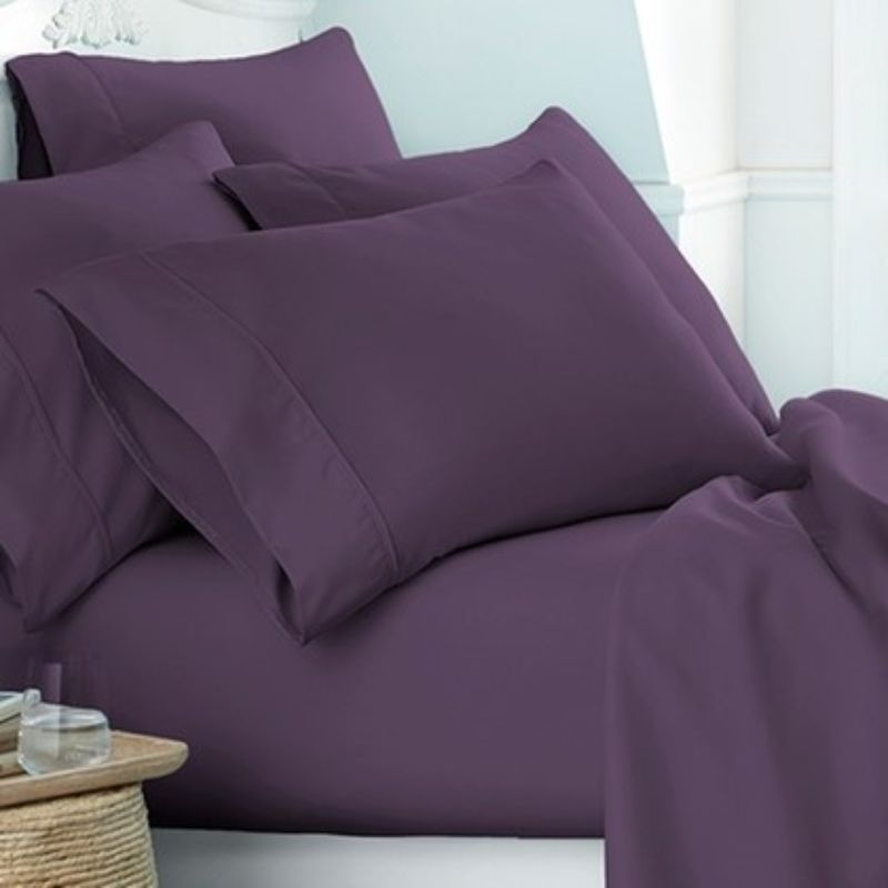 Microfiber Merit Linens Bed Sheets Sets - 6 Piece-Purple-Twin-Daily Steals