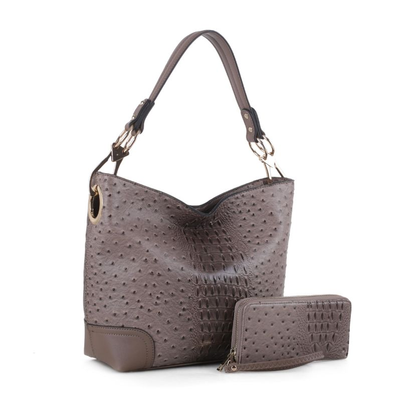 MKF Collection Wandy Hobo Handbag et assorti Wallet-Stone-Daily Steals