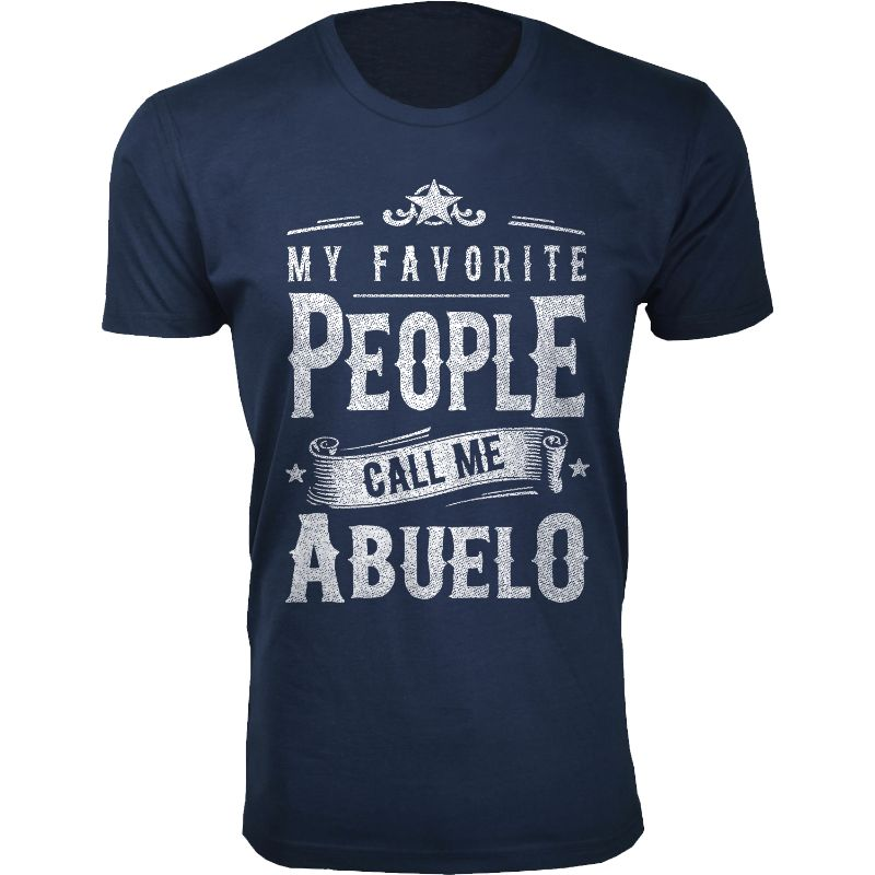 Men's Dad Grandpa My Favorite People Call Me T-Shirts-Abuelo - Navy-2XL-Daily Steals