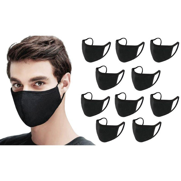 Antibacterial Reusable & Washable Breathable Face Mask - 10 or 20 Pack-Black-10 Pack-Daily Steals