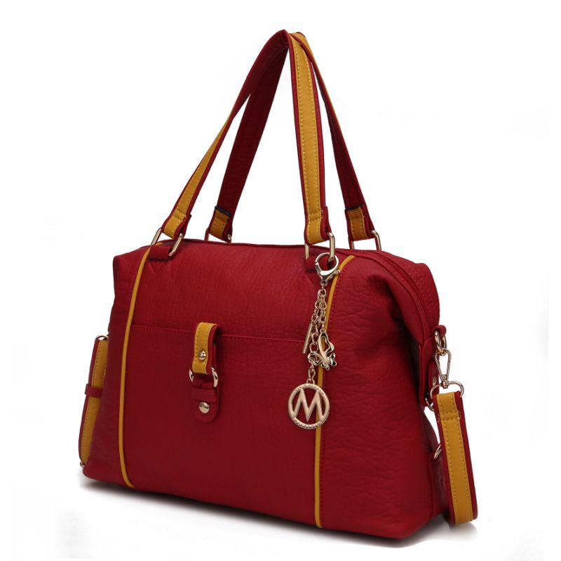 Opal Satchel Handbag by MKF-Red-Yellow-Daily Steals